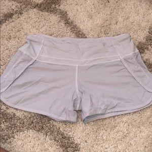 White lululemon shorts size 6